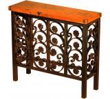 Mexican Copper Inlaid Small Elena Console Table