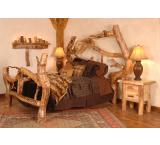 Rustic Aspen Log Crazy Horse Free Form Bed