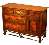 Mexican Copper Inlaid 5-Drawer Pablo Dresser