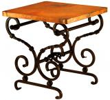 Mexican Copper Inlaid Holliman End Table