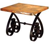 Mexican Copper Inlaid Southern End Table