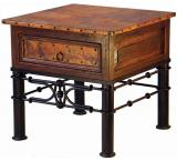 Mexican Copper Inlaid Pablo End Table