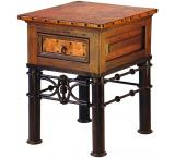 Mexican Copper Inlaid Sm. Pablo End Table
