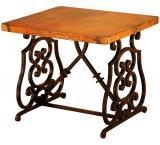 Mexican Copper Inlaid Monte Cristo End Table