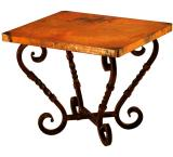 Mexican Copper Inlaid Margarita End Table