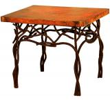 Mexican Copper Inlaid Twig End Table
