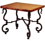 Mexican Copper Inlaid Tuscany End Table