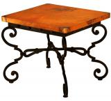 Mexican Copper Inlaid Monica End Table