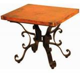 Mexican Copper Inlaid Roman End Table