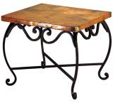 Mexican Copper Inlaid Pio End Table