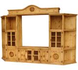 Santa Maria 5-Star Mexican Rustic Pine Entertainment Center