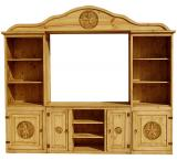 Cleburne Mexican Rustic Pine Entertainment Center