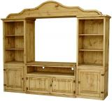 Odessa Mexican Rustic Pine Entertainment Center