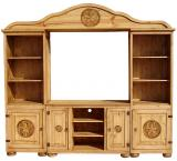 Tecate Star Mexican Rustic Pine Entertainment Center