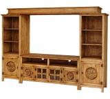 Gregorio Star Mexican Rustic Pine Entertainment Center