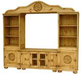 California Mexican Rustic Pine Entertainment Center