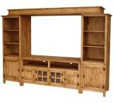 Gregorio Mexican Rustic Pine Entertainment Center