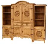 Sierra Star Mexican Rustic Pine Entertainment Center