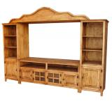 Alamo Mexican Rustic Pine Entertainment Center