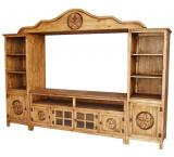 Alamo Star Mexican Rustic Pine Entertainment Center