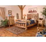 Rustic Aspen Log Homestead Bed