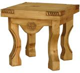 Yugo Star Mexican Rustic Pine End Table