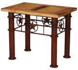 Iron Star Mexican Rustic Pine End Table