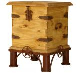 Lone Star Mexican Rustic Pine End Table Trunk