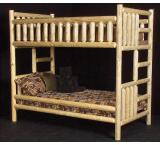 Rustic Pine Log / Northwoods Bunk Bed