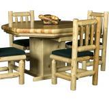 Rustic Pine Log Northwoods Log Poker Table