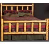 Rustic Pine Log Alpine Log Headboard