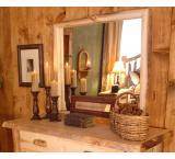 Rustic Aspen Log Dresser Mount Mirror