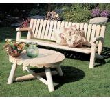 Cedar Log Outdoor Patio Round Coffee Table