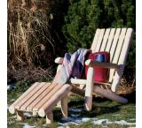 Cedar Log Outdoor Patio Log Ottoman