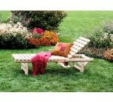 Cedar Log Outdoor Patio Reclining Lounge Chair