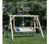 6' Classic Swing Outdoor Patio Cedar Log Furniture