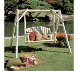 4' American Garden Swing Outdoor Patio Cedar Log Furniture