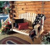 Porch Swing Outdoor Patio Cedar Log Furniture