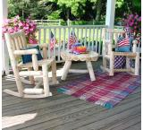 Cedar Log Outdoor Patio Porch Rocker
