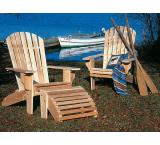Oversized Adirondack Chair Outdoor Patio Cedar Log Furniture