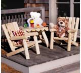Cedar Log Outdoor Patio Junior Adirondack Chair