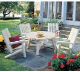 High Back Arm Chair Outdoor Patio Cedar Log Furniture
