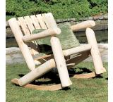 Cedar Log Outdoor Patio Low Back Rocker