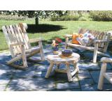 Cedar Log Outdoor Patio High Back Rocker