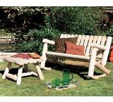 Cedar Log Outdoor Patio Double Rocker