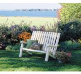 Cedar Log Outdoor Patio High Back Love Seat