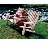 Cedar Log Outdoor Patio Garden Teaset