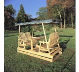 Deluxe Garden Glider Outdoor Patio Cedar Log Furniture