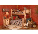Rustic Aspen Log Silver Creek over Bunk Bed