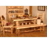 Rustic Aspen Log Silver Creek Table